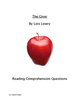 The Giver Reading Comprehension Questions