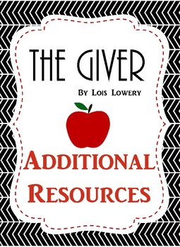 The Giver: Resources and Graphic Organizers