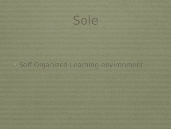 The Giver SOLE Activity  (Self Organized Learning Environment)