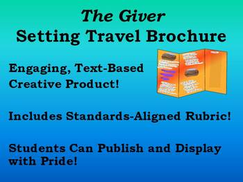 The Giver Setting Travel Brochure! Creative Product for During/After Reading!