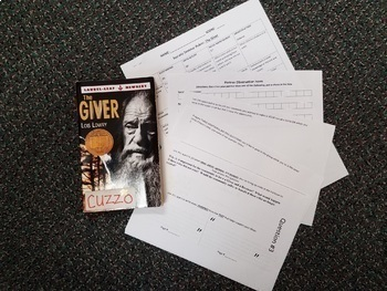 The Giver Socratic Seminar Circle fishbowl test end of novel + rubric
