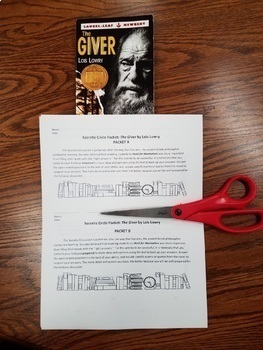 The Giver Socratic Seminar packets and rubric