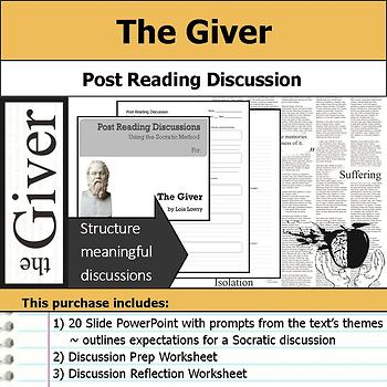 The Giver - Socratic Method - Post Reading Discussions