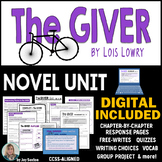 The GIVER Unit - Novel Study Common Core Aligned