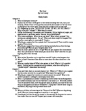 The Giver (Study Guide Questions)