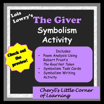 The Giver Symbolism Activity With Symbolism Task Cards Tpt