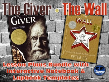 The Giver / The Wall Lesson Plans with Interactive Notebook and Test Prep