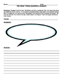 The Giver Theme Quote Analysis Handout (Word Doc)