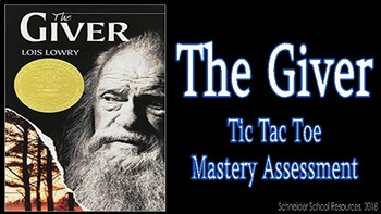 The Giver: Tic Tac Toe Mastery Assessment