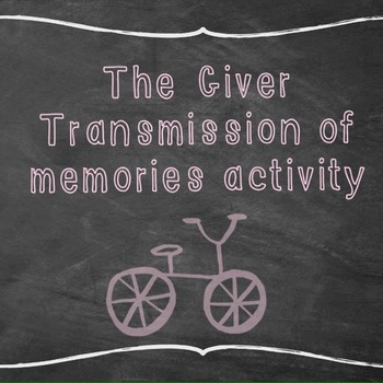 The Giver: Transmission of Memories activity