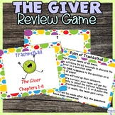The Giver Editable Review Game for Chapters 1 - 4