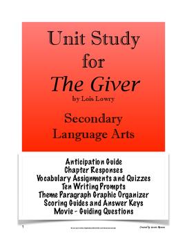 The Giver Unit (BUNDLE); Secondary Language Arts