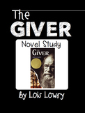 The Giver Unit Novel Study Vocabulary, Questions, & Test