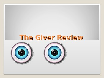 The Giver- Unit Test Review
