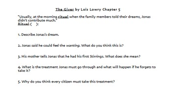 The Giver Unit and PowerPoint Trivia Review