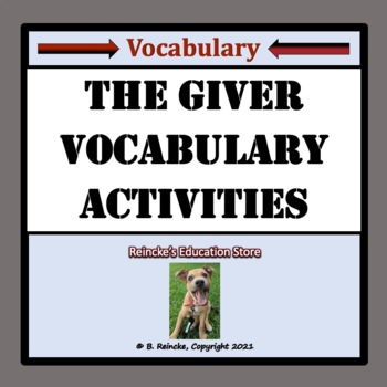 The Giver Vocabulary Activities