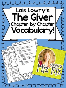 The Giver Vocabulary {Chapter by Chapter!}