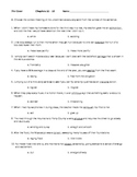 The Giver Vocabulary Chapters 11-15