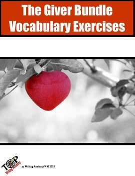 The Giver Vocabulary Exercises Bundle Packet 50 words 25 E