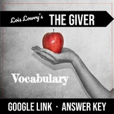 The Giver Vocabulary -  Great for Special Education & ESL