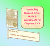 The Giver Novel Study Vocabulary Quizzes for Ch 1 - 4  - Reg and Modified