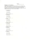 The Giver - Vocabulary Worksheets and Vocabulary Quiz for the first 7 Chapters