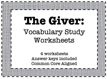 The Giver: Vocabulary Word Study