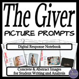The Giver Digital Interactive Notebook Writing Prompts for