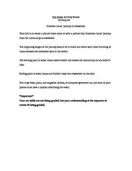 The Giver activity packet