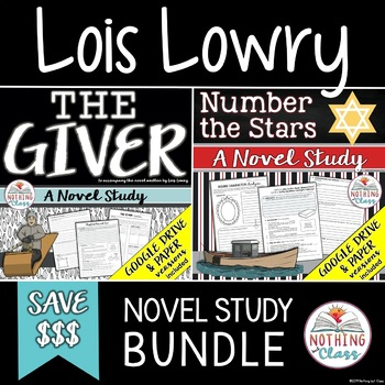 The Giver and Number the Stars Novel Study Bundle: Lois Lowry Author Study