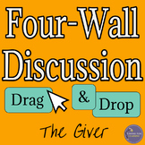 The Giver Four Wall Discussion Activity, Digital Interactive & Print