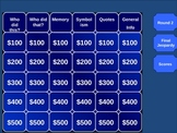 Giver by Lois Lowry Jeopardy Game