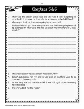 The Giver ( by Lois Lowry)  - Novel Unit Bundle