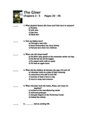 The Giver by Lois Lowry Quiz on Chapter 3 and 4 and 5