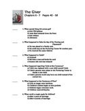 The Giver by Lois Lowry Quiz on Chapter 6 and 7