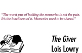 The Giver by Lois Lowry // Quotes for around the classroom
