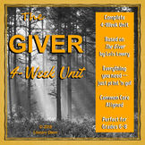 GIVER by Lois Lowry: Unit, Lesson Plans, Writing Activities, Student Packet