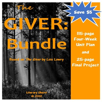 GIVER | Giver Novel Unit | Lois Lowry | The Giver BUNDLE