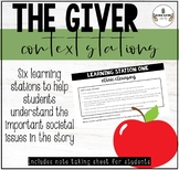 THE GIVER CONTEXT LEARNING STATIONS