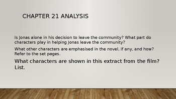The Giver film and book character analysis