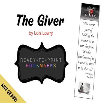 The Giver (ready to print) BOOKMARK