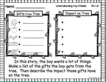 The Giving Tree - A Common Core Unit (Close Reading) by Teach Me First