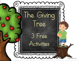 Freebie - The Giving Tree - A Common Core Unit Sample