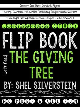 The Giving Tree: A Literature Study Flip Book!