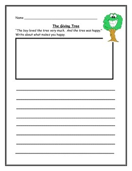 The Giving Tree Activities