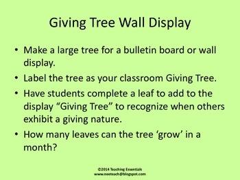 The Giving Tree Activity Kit