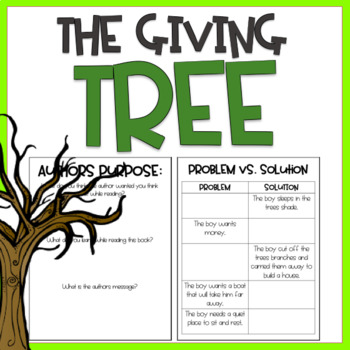 The Giving Tree / Read Aloud Book Companion