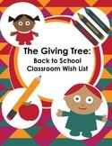 The Giving Tree: Back to School Wish List for Meet Teacher & Curriculum Night