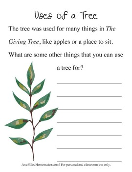 The Giving Tree Book Study