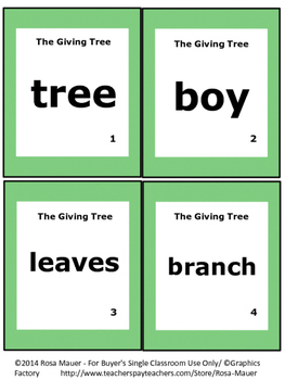 The Giving Tree Literacy Unit